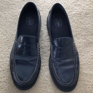 Cole Haan size 10 navy penny loafers